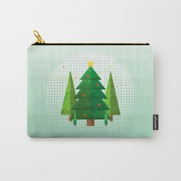 Geometric Christmas Trees Carry-All Pouch
