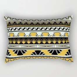 art deco stripes - honey Rectangular Pillow