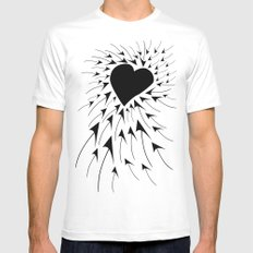 Heart Mens Fitted Tee MEDIUM White