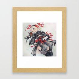 2B [Flowers] Framed Art Print