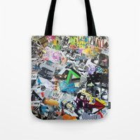 los angeles Tote Bags featuring LOS ANGELES by Brandon Neher
