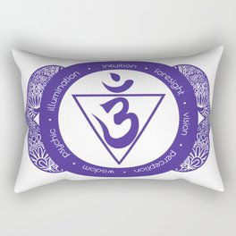 Third Eye Chakra #51 Rectangular Pillow