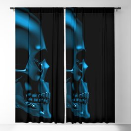 Glass skull Blackout Curtain