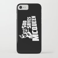 steve mcqueen iPhone & iPod Cases featuring God saves McQueen by dutyfreak