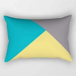 Blue-Green Yellow Gray Abstract Pattern 2021 Color of the Year AI Aqua 098-59-30 Rectangular Pillow