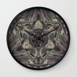 Purple Black Lime #2 Wall Clock