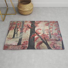 Chasing the light - Into the Forest Rug