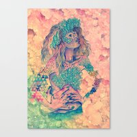 geode Canvas Prints featuring geode by flower