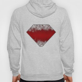 Shiny Red Texture With Silver Sparkles Hoody