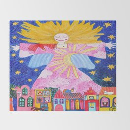 THE GUARDIAN ANGEL Throw Blanket