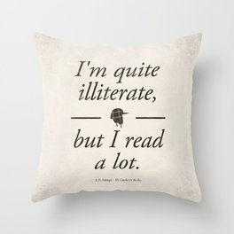 Salinger's The Catcher in the Rye - Literary quote art, bookish gift, modern home decor Throw Pillow
