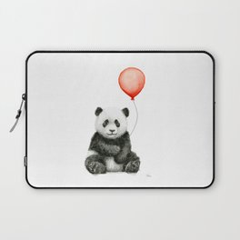 Baby Panda and Red Balloon Laptop Sleeve