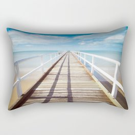 Boardwalk on the Beach Rectangular Pillow