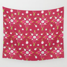 Dragon Fruit Blossom Wall Tapestry