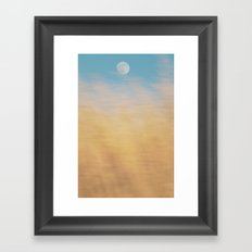 Moon Grass Framed Art Print