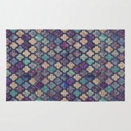 Moroccan Tile Design In Retro Colors Rug