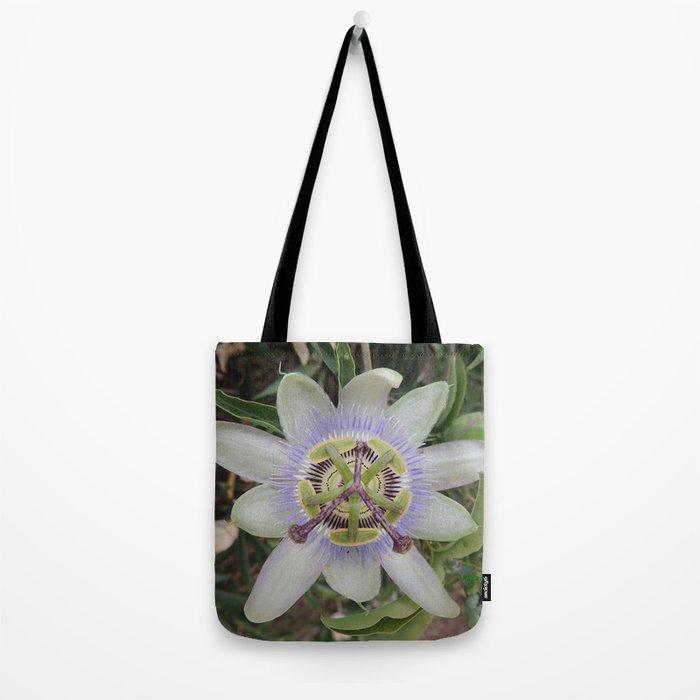 Passion Flower Blossom Tote Bag