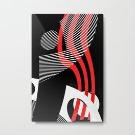 Black and white meets red Version 30 Metal Print