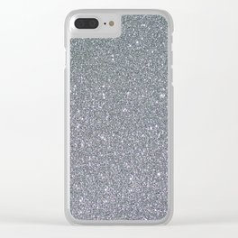 Two Toned Glitter Clear iPhone Case