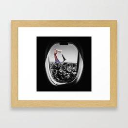 Paperplane dilemna Framed Art Print