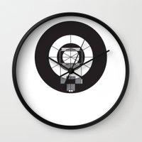the flash Wall Clocks featuring Flash by visionalfreeman
