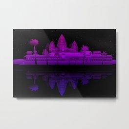 Angkor Wat Nights Metal Print