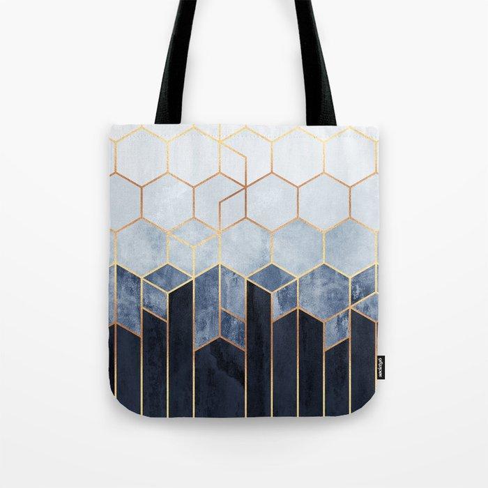 Soft Blue Hexagons Tote Bag