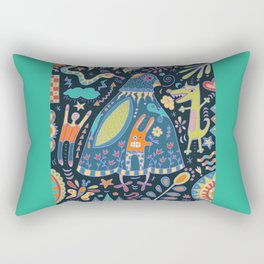Bird Talk Rectangular Pillow