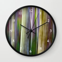 Motion Blur Trees Wall Clock