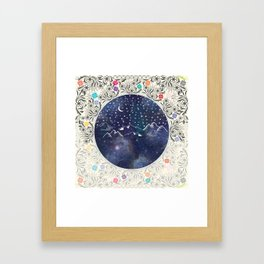 Beautiful starry night Framed Art Print