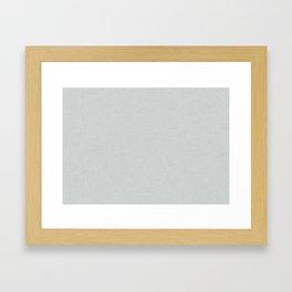Plain grey fabric texture Framed Art Print