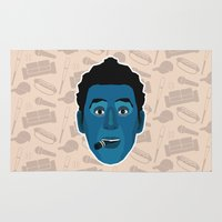 seinfeld Area & Throw Rugs featuring Cosmo Kramer - Seinfeld by Kuki