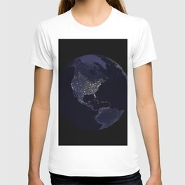 Earth Globe Lights T-shirt