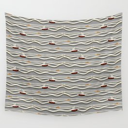 Sailing pattern 1a Wall Tapestry