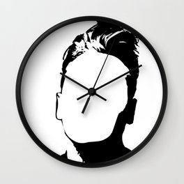 Morrisey-vacant expression Wall Clock