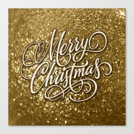 Glitter Gold Xmas Canvas Print
