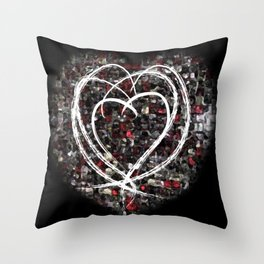 lovex4 Throw Pillow