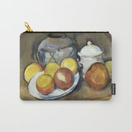 1893 - Paul Cezanne - Straw-Trimmed Vase, Sugar Bowl and Apples Carry-All Pouch