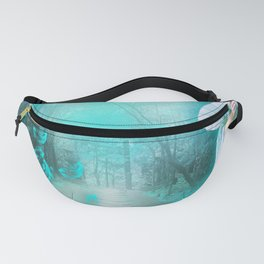 Geisha In Teal Fanny Pack