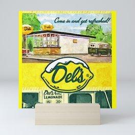 Vintage Del's Lemonade Rhode Island Vintage Advertising Poster Mini Art Print
