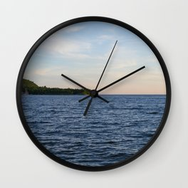 Waiting for Sunset Wall Clock