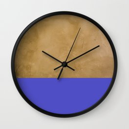 Ocean on putty Wall Clock