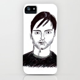 Biro Drawing of Tobey Maguire iPhone Case