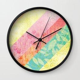 Whim Stripes Wall Clock