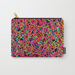 Random colored tangled ropes and pink lines. Carry-All Pouch