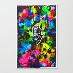 Neon Lightning Canvas Print