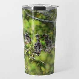 Yellow-crowned Night Heron Babies I Travel Mug