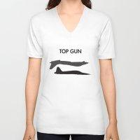 top gun V-neck T-shirts featuring Top Gun  by NotThatMikeMyers