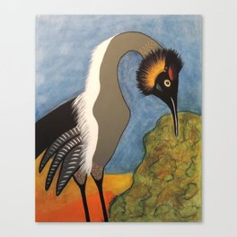 Speckled Crane Canvas Print