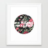 vampire weekend Framed Art Prints featuring Vampire Weekend Floral logo by Van de nacht